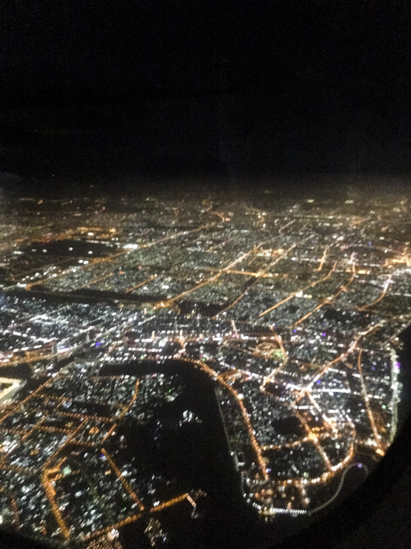 Mumbai at night from the air