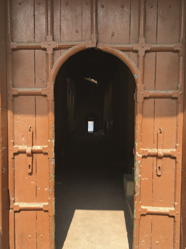 doorway and passage, Bazaar Road, Kochi, India