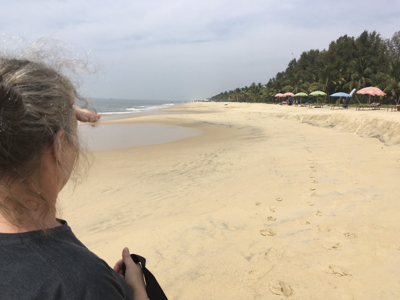 a quiet day on Marari Beach, Kerala, India