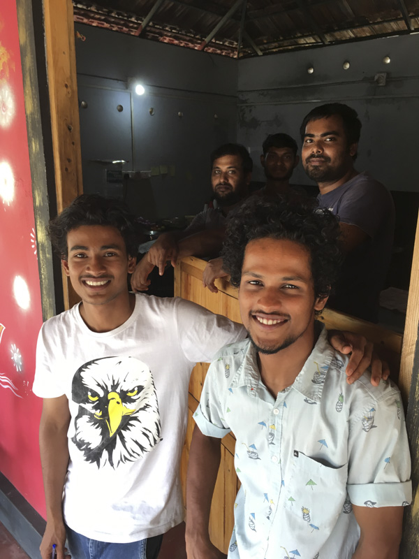 Coffee Temple Staff, Marari Beach, Kerala, India