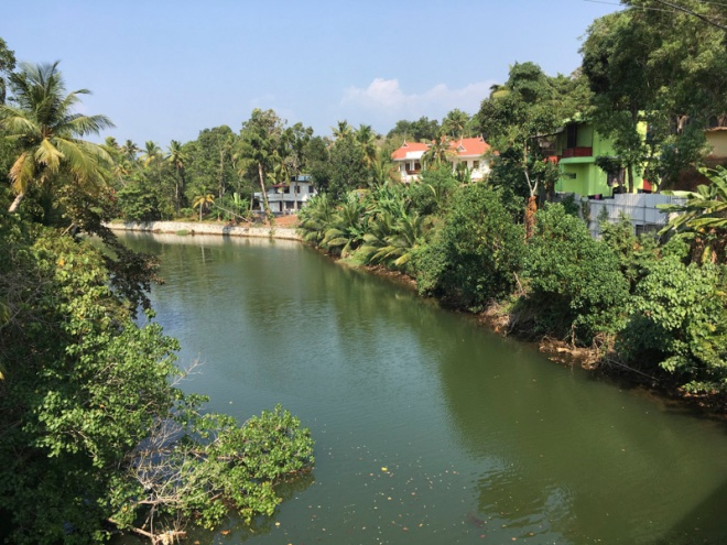 View from a bridge on Munroe Island, Kerala, India