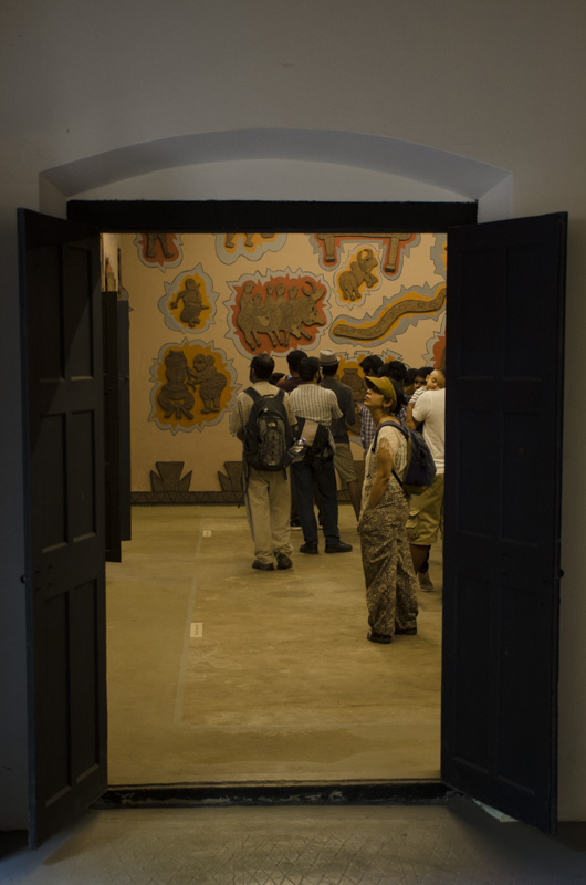 Gond art at Kochi Muziris Biennale, Kochi, India