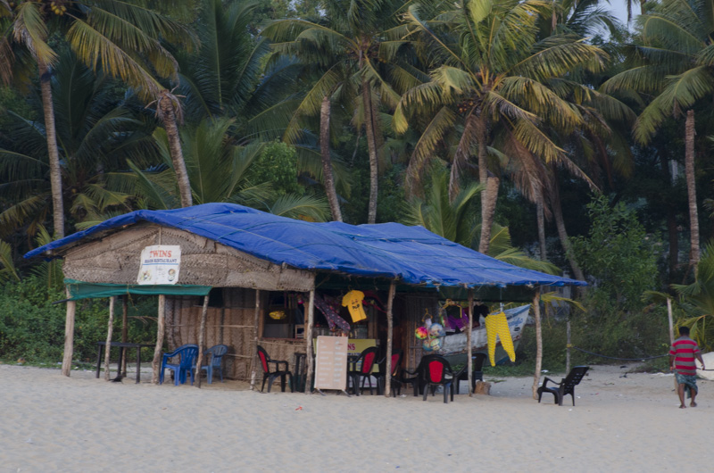 Food Hut Marari Beach, Kerala, India