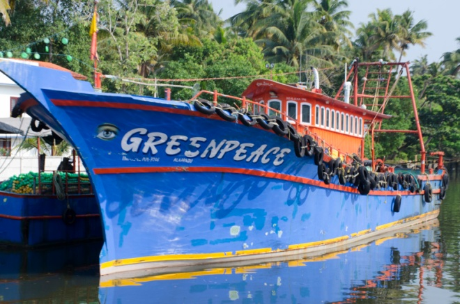 a boat called Greenpeace