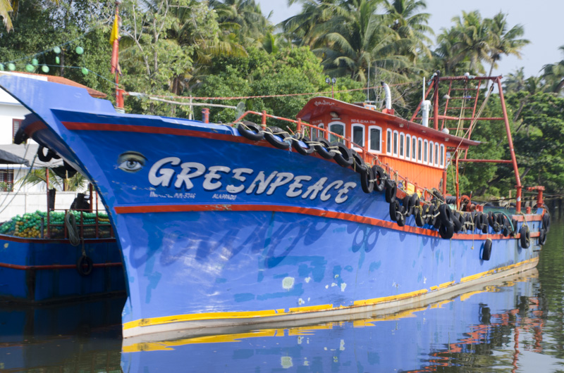 a boat called Greenpeace