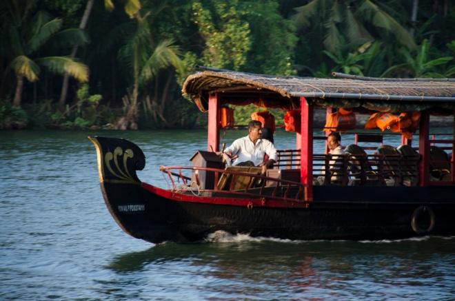 a boat on the Kallada River