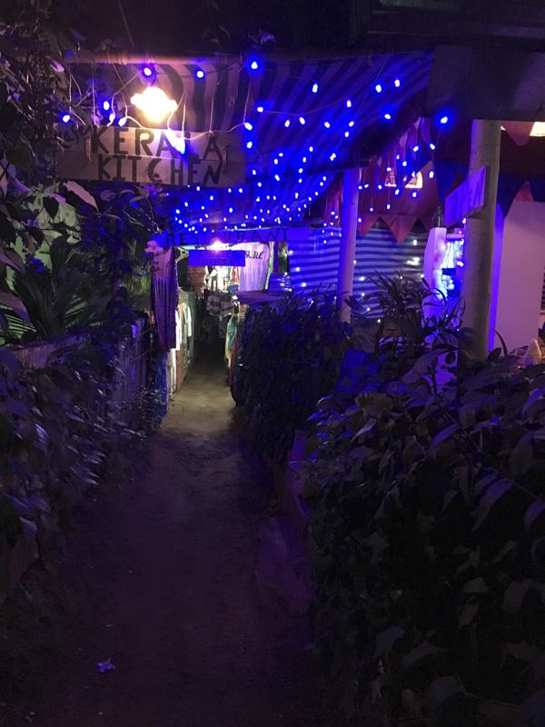 lane of small shops, Varkaka, India