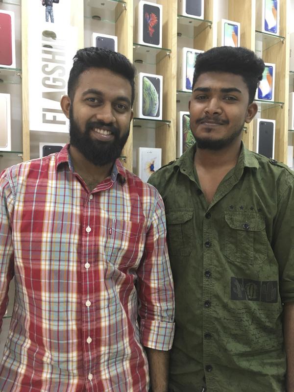 staff at Phone Factory, Trivandrum, Kerala, India