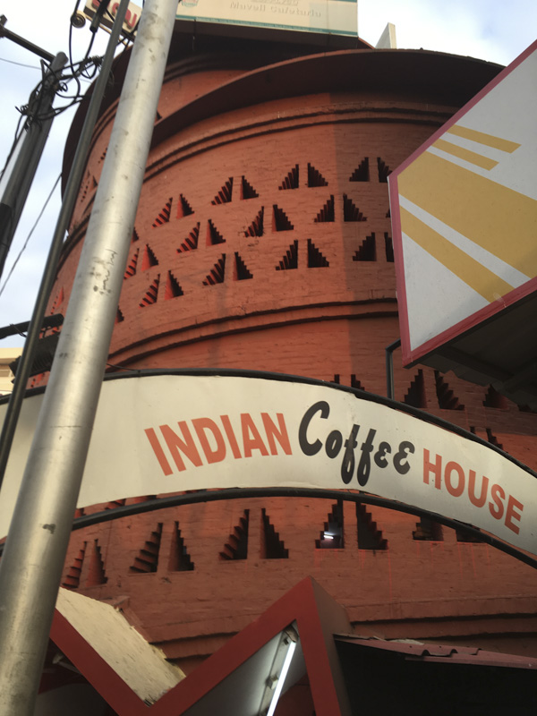 Indian Coffee House exterior and sign