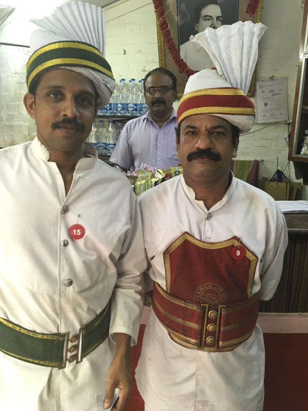 Junior and Senior Staff at the Indian Coffee House, Trivandrum, India