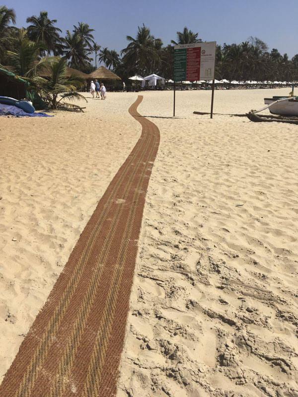 The Red Carpet at Betul Beach, Goa, India