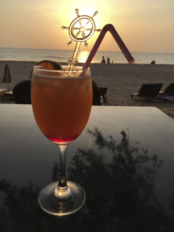 a Fenny Sunrise at Sunset at Madhu, Agonda Beach, Goa, India