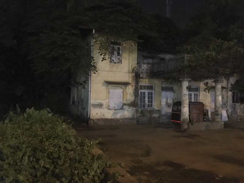 building at night in Ernakulam, India