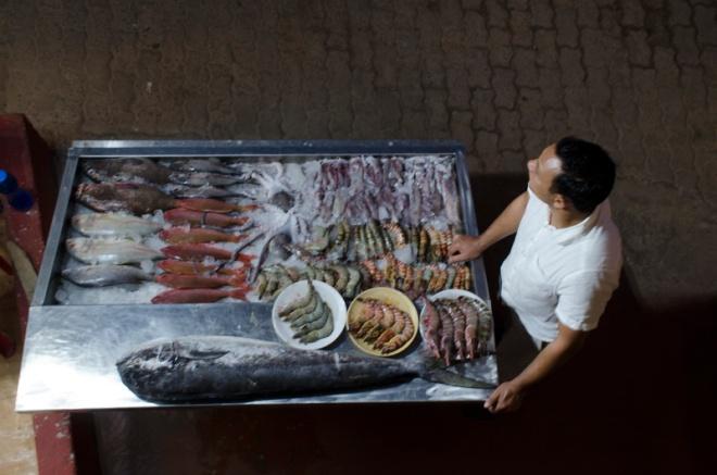 Display of Fresh Fish, Varkala, India