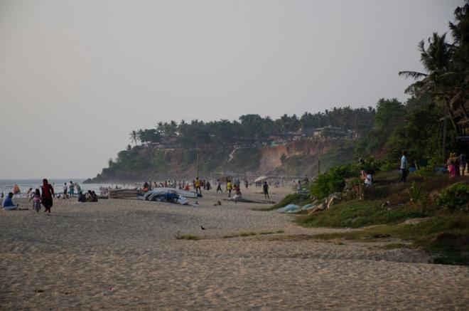 Looking North on Papanasam Beach, Varkala, India