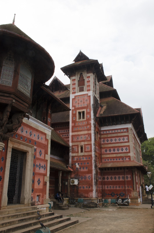 Exterior of Napier Museum, Trivandrum, India