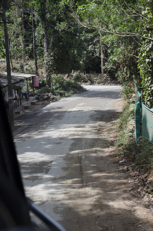 road between Kumily and Munnar, India