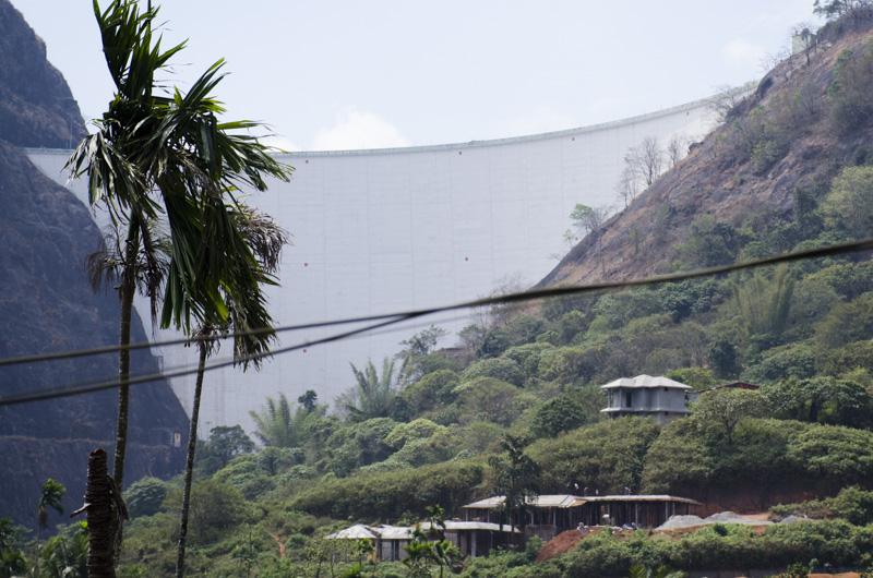 Idukki Dam seen from a bus