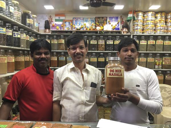 spice shop in Crawford Market, Mumbai