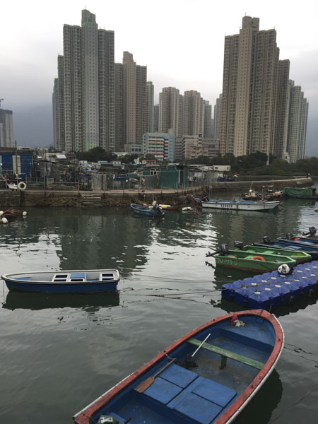 Yat Tung Estates from across the water