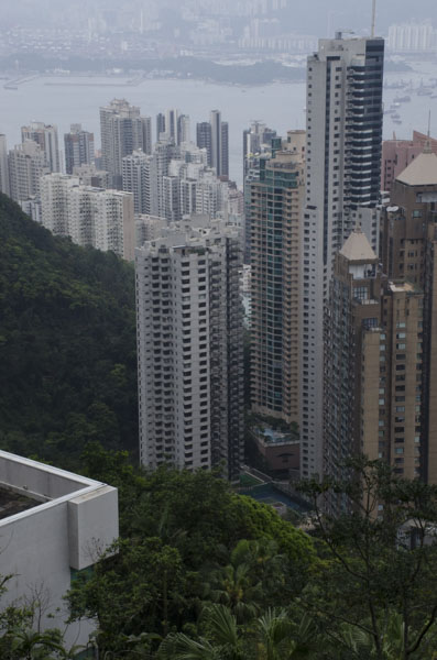 view coming down from Victoria Peak, Hong Kong