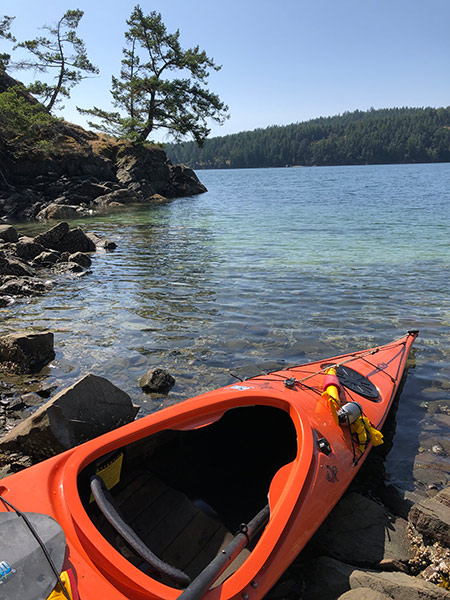 kayaking Bedwell Harbour Pender Island British Columbia
